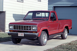 1980 Ford Ranger XLT<br /> <br /> This image was scanned from a slide, print or transparency.  Image quality may vary.  Dust and other unwanted artifacts may exist.