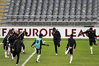 20120213: BRAGA, PORTUGAL - Besiktas JK players at the Besiktas JK training session before UEFA Europe League match against SC Braga.<br />