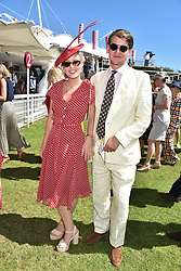 Lady Eloise Gordon-Lennox and George Hill at the Qatar Goodwood Festival - Glorious Goodwood, Goodwood Racecourse, West Sussex 02 August 2018.