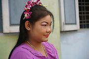 Myanmar, Portrait of a Burmese woman