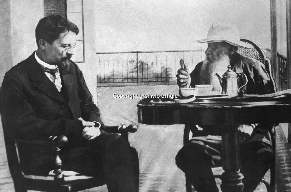 Anton Cechov e Lev Nikolaevic Tolstoj<br />archivio effigie