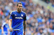 Kenneth Zohore of Cardiff city looks on.Skybet football league championship match, Cardiff city v Bolton Wanderers at the Cardiff city Stadium in Cardiff, South Wales on Saturday 23rd April 2016.<br /> pic by Andrew Orchard, Andrew Orchard sports photography.