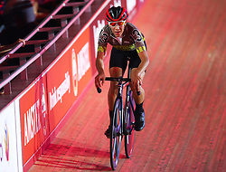 October 26, 2017 - London, England, United Kingdom - Santiago Cadavid (GBR)(BLACK) ..compete in the 40km Madison 1878 Cup during day three of the London Six Day Race at the  Lee Valley Velopark Velodrome on October 26, 2017 in London, England. (Credit Image: © Kieran Galvin/NurPhoto via ZUMA Press)