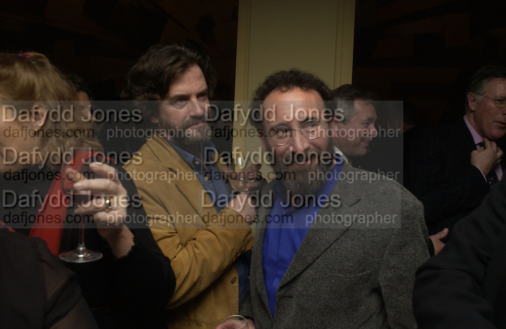 Greg Doran and Tony Sher. The after party following the press night for 'Who's Afraid Of Virginia Woolf?' at the Aldwych theatre on January 31 2006  January 31  2006. © Copyright Photograph by Dafydd Jones 66 Stockwell Park Rd. London SW9 0DA Tel 020 7733 0108 www.dafjones.com
