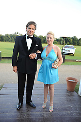 BRAD SHACKLETON and ANNELIESE PARNES at the annual Ham Polo Club Summer Ball held at the club, Petersham Road, Richmond, Surrey on 25th July 2008.<br /> <br /> NON EXCLUSIVE - WORLD RIGHTS