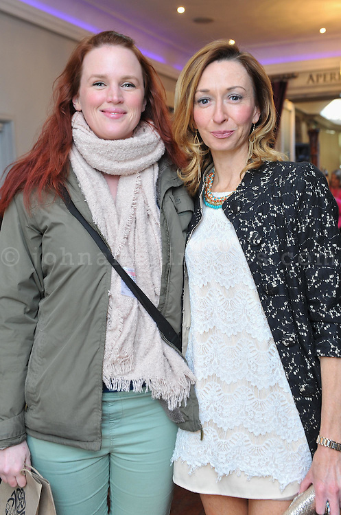 REPRO FREE<br /> Tanya Slattery and blogger Melissa Fitzgerald from headoverkillerheels.com pictured at the Irish Fashion Design Showcase organised by frock advisor and Wear We Wander at the Blue Haven Hotel in Kinsale.<br /> Picture. John Allen<br /> <br /> For immediate release - Contact & Enquiries for further details Bronwyn Connolly 0894389844<br /> <br /> Frockadvisor, Ireland's only Fashion app supporting independent boutiques and designers teamed up with online Ethical Fashion Boutique, Wear we Wander, to showcase and celebrate the very best in Irish Fashion Design in the stunning setting of Aperitif at The Blue Haven, Kinsale. Guests previewed SS16 Collections from well known Irish Designers including Alice Halliday, Charlotte & Jane, Wear we Wander, Celtic Fusion, Mamukko,&  Helle Helsner. While indulging Handmade Irish Chocolate, Wine and Tapas, all while listening to the haunting sounds of the Harp. Guests were truly immersed in the very fantastic display of Irish Design & Fashion. <br /> <br /> frockadvisor is the brain child of Fashion Gurus Brendan Courtney and Sonya Lennon, who between them have many industry years under their beautifully crafted belts. Their careers have included TV broadcasting, styling, journalism and designing.<br /> Using all that knowledge, they developed frockadvisor, through a deep understanding of the industry and a clear sense of what the customer wants. Independent retailers, designers and their customers love each other and are driven by a common search for something different. Fashion is magic and the experience of being advised and assisted by people who you respect and trust is much more beautiful than simply pressing 'buy it now'. frockadvisor is pioneering a new kind of customer experience and providing boutique and designers an opportunity to connect with fashion lovers on a whole new level. <br /> <br /> frockadvisor is delighted be involved with anything that promotes beautiful things produced and sold by beautifu