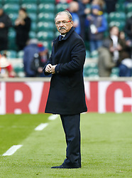February 10, 2019 - London, England, United Kingdom - Jacques Brunel Head Coach of France.during the Guiness 6 Nations Rugby match between England and France at Twickenham  Stadium on February 10th, 2019 in Twickenham, London, England. (Credit Image: © Action Foto Sport/NurPhoto via ZUMA Press)
