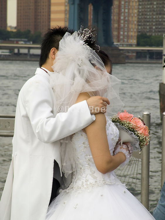 newly wedded couple