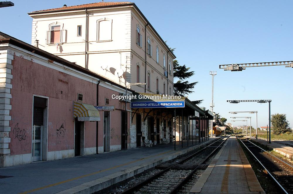 Rionero in V. Basilicata, Italy - La Stazione Ferroviaria
