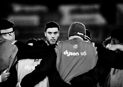 Bath Rugby's Matt Banahan during the pre match warm up<br /> <br /> Photographer Simon King/Replay Images<br /> <br /> Anglo-Welsh Cup Round 4 - Ospreys v Bath Rugby - Friday 2nd February 2018 - Liberty Stadium - Swansea<br /> <br /> World Copyright © Replay Images . All rights reserved. info@replayimages.co.uk - http://replayimages.co.uk