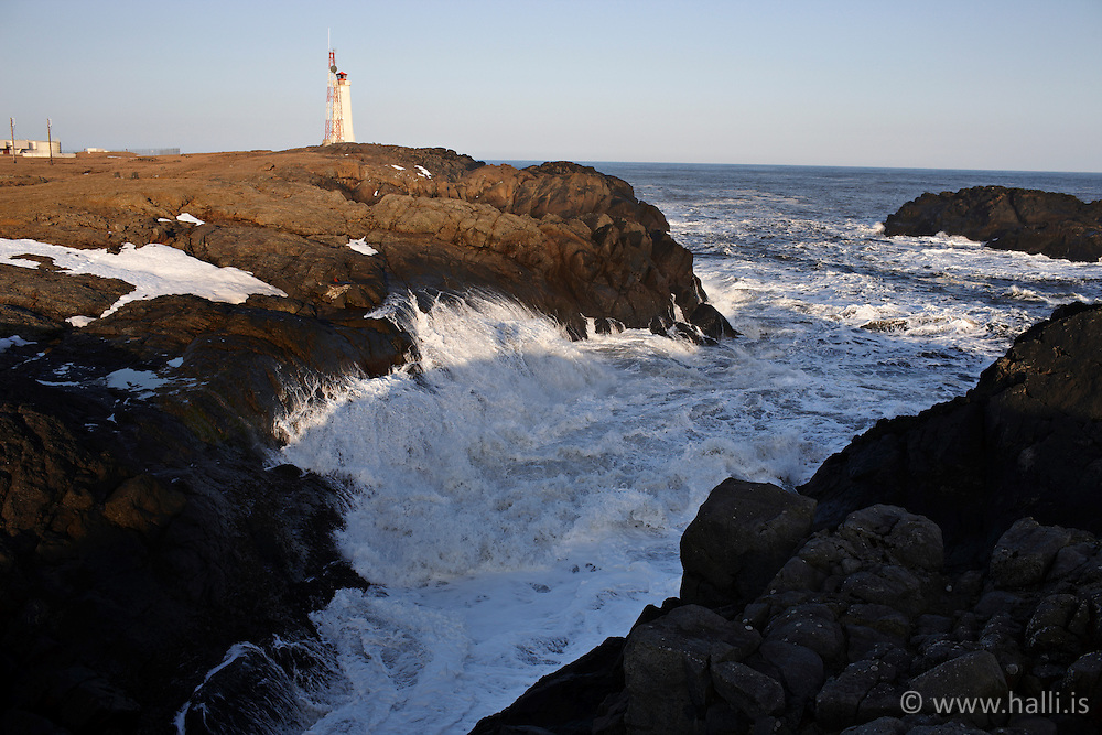 Lighthouse at Stokksnes, east of Iceland - Viti að Stokksnesi