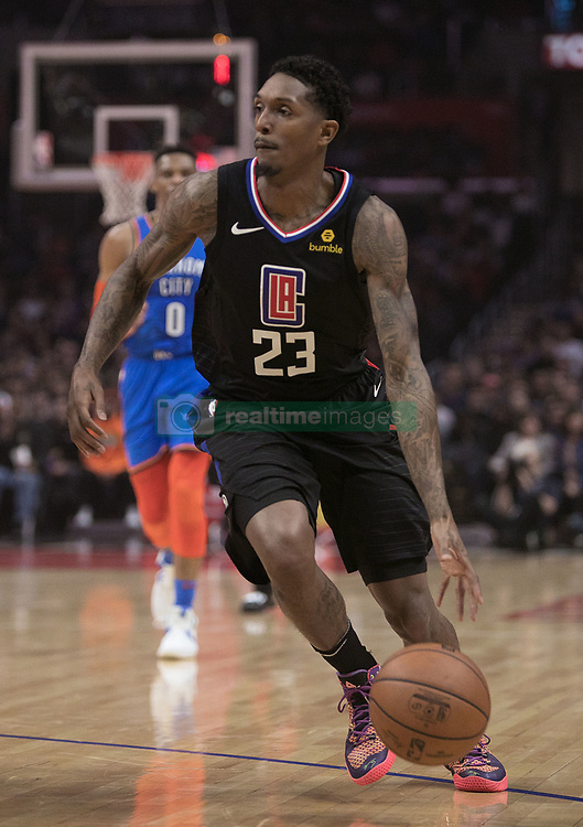 March 8, 2019 - Los Angeles, California, U.S - Lou Williams #23 of the Los Angeles Clippers drives to the basket during their NBA game with the Oklahoma Thunder on Friday March 8, 2019 at the Staples Center in Los Angeles, California. JAVIER ROJAS/PI (Credit Image: © Prensa Internacional via ZUMA Wire)