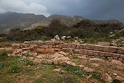 The ancient harbour at Falassarna, Crete