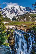 Myrtle Falls in Mt. Rainier National Park