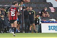 Football - 2020 / 2021 EFL Championship - AFC Bournemouth vs. Blackburn Rovers<br /> <br /> A quick thumbs up from Bournemouth's Manager Jason Tindall after his side take the lead for the third time at the Vitality Stadium (Dean Court) Bournemouth <br /> <br /> COLORSPORT/SHAUN BOGGUST