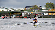 Putney, GREAT BRITAIN,  Jessica EDDIE competing in the 2012 Wingfield Sculls,  Putney to Mortlake, River Thames. Championship Course. Thursday  01/11/2012 [Mandatory Credit, Peter Spurrier/Intersport-images]