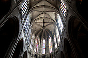 Interior of Narbonne Cathedral, Cathédrale Saint-Just-et-Saint-Pasteur de Narbonne, is a former cathedral, and national monument of France. It is dedicated to Saints Justus and Pastor. It was the seat of the Archbishop of Narbonne until the Archbishopric was merged into the Diocese of Carcassonne under the Concordat of 1801. The church was declared a basilica minor in 1886. The building, begun in 1272[2], is noted for being unfinished.