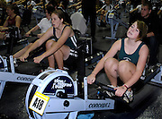 Birmingham, GREAT BRITAIN, left Gabby WATSON and Ffi BEVAN,competing in the women's J14 category, at the British Indoor Rowing Championships, National Indoor Arena, Birmingham, ENGLAND. 12/11/2006, [Photo, Peter Spurrier/Intersport-images].....