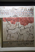 the antelopes fresco at the National Archaeology Museum, Greece, Athens