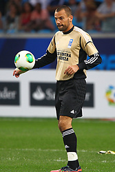 Diego Cavalieri durante a 10ª edição do Jogo Contra a Pobreza - Match Against Poverty, na Arena do Grêmio, em Porto Alegre. FOTO: Lucas Uebel/Preview.com