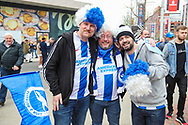 Brighton & Hove Albion fans during the The FA Cup semi-final match between Manchester City and Brighton and Hove Albion at Wembley Stadium, London, England on 6 April 2019.