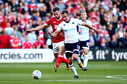 Jed Wallace of Millwall goes past Daryl Murphy of Nottingham Forest - Mandatory by-line: Robbie Stephenson/JMP - 04/08/2017 - FOOTBALL - The City Ground - Nottingham, England - Nottingham Forest v Millwall - Sky Bet Championship