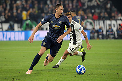 November 7, 2018 - Turin, Turin, Italy - Nemanja Matic #31 of Manchester United during  the UEFA Champions League group H match between Juventus FC and Manchester United at Allianz Stadium on November 07, 2018 in Turin, Italy. (Credit Image: © Giuseppe Cottini/NurPhoto via ZUMA Press)