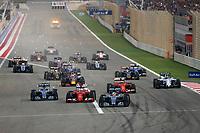 Start during 2015 Formula 1 FIA world championship, Bahrain Grand Prix, at Sakhir from April 16 to 19th. Photo Florent Gooden / DPPI