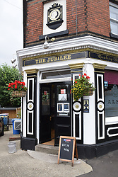 Easing of Coronavirus lockdown on 4 July 2020 in Norwich, UK. Pubs, restaurants, hairdressers etc are finally allowed to open, with social distancing