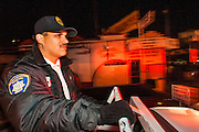 28 JANUARY 2005 - NOGALES, SONORA, MEXICO: Police officers in Nogales, Sonora, sweep the adult entertainment district and neighborhoods known to have crime rates and gang related problems.  PHOTO BY JACK KURTZ