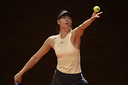 May 6, 2018 - Madrid, Spain - Maria Sharapova against Mihaela Buzarnescu during day two of the Mutua Madrid Open tennis tournament at the Caja Magica on May 6, 2018 in Madrid, Spain. (Credit Image: © Oscar Gonzalez/NurPhoto via ZUMA Press)