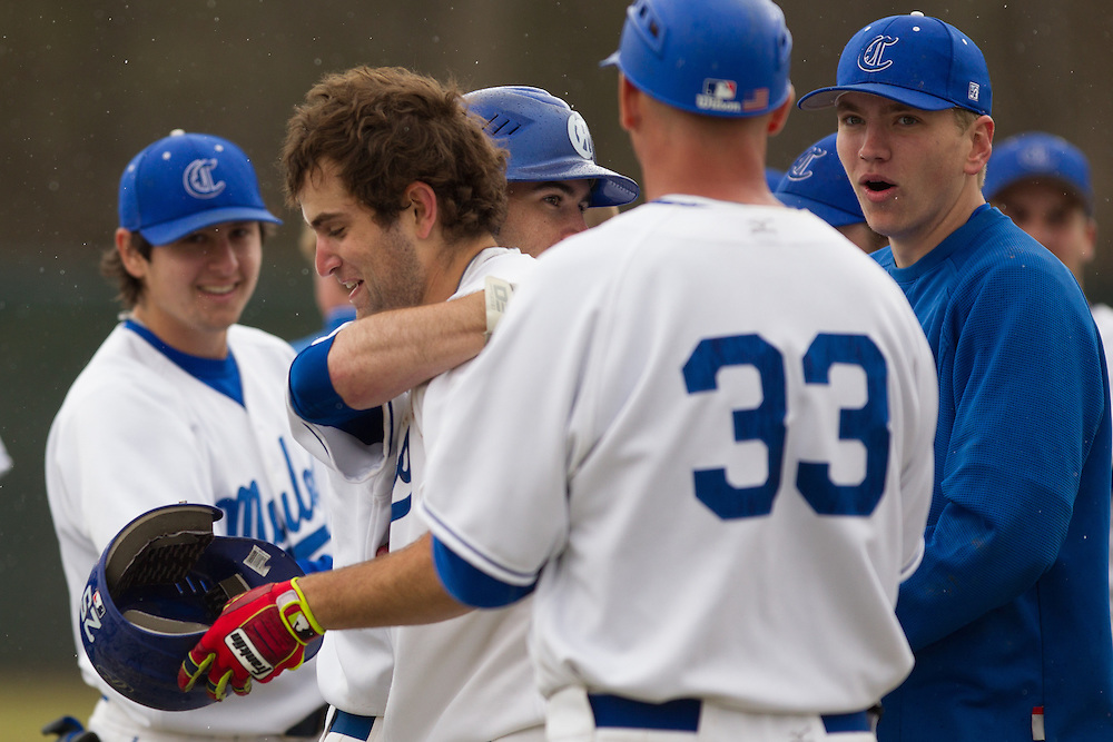 Nils Carlson of Colby College, during a NCAA Division III baseball game against Bates College on April 25, 2014 in Waterville, ME. (Dustin Satloff/Colby Athletics)