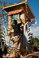 """Balinese Hindu dead are generally buried for a period of time, which may exceed one month or more so that the cremation ceremony """"Ngaben"""" can be held on an auspicious day on the Balinese Calendar system."""