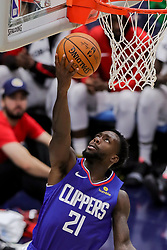 October 23, 2018 - New Orleans, LA, U.S. - NEW ORLEANS, LA - OCTOBER 23:  LA Clippers guard Patrick Beverley (21) drives to the basket against New Orleans Pelicans on October 23, 2018, at Smoothie King Center in New Orleans, LA. (Photo by Stephen Lew/Icon Sportswire) (Credit Image: © Stephen Lew/Icon SMI via ZUMA Press)