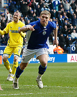Photo: Steve Bond/Richard Lane Photography. Leicester City v Cardiff City. Coca Cola Championship. 13/03/2010. Martyn Waghorn turns to celebrate