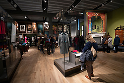 Interior of Scottish Design Galleries at the new V&A Museum on first weekend after opening in Dundee , Scotland, UK.