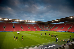 PRAGUE, CZECH REPUBLIC - Thursday, October 7, 2021: Czech Republic players during a training session ahead of the FIFA World Cup Qatar 2022 Qualifying Group E match between Czech Republic and Wales at the Sinobo Stadium. (Pic by David Rawcliffe/Propaganda)