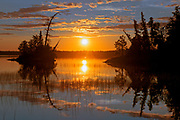 Sunset reflection on Lac des Sables<br />