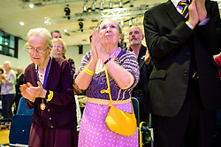 Ukip supporters applaud at the Ukip annual conference, Bournemouth.