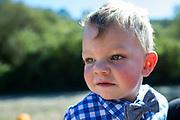 Nicholas plays at the Pumpkin Patch in Half Moon Bay, California, on October 25, 2017. (Stan Olszewski/SOSKIphoto)