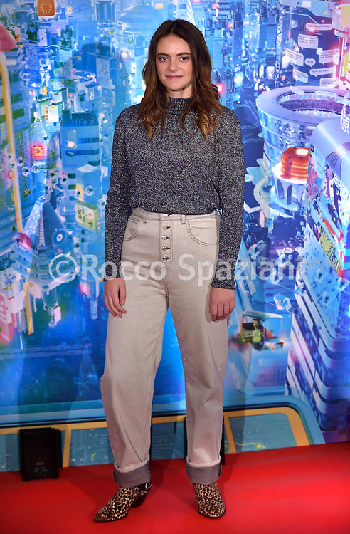 """Francesca Michielin poses during the photo call of the movie Ralph Spacca Internet """"Ralph Breaks the Internet"""", in Rome, Friday, Nov. 16, 2018."""