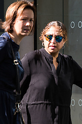 Safaa Hassan Ismail defendant, right, arrives at her employment Tribunal at in Watford. Watford, August 03 2018.