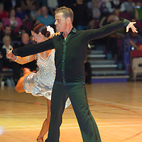 Mark Powell & Kim Parsons of Great Britain perform their dance during the Senior Latin-american competition at the International Championships held in Brentwood Centre, Brentwood, United Kingdom. Tuesday, 13. October 2009. ATTILA VOLGYI