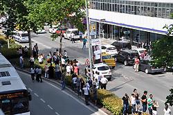 June 12, 2017 - °Zmir, Türkiye - Ege Denizinde 6.3 büyüklüğünde ÅŸiddetli bir deprem meydana geldi. Ä°lk gelen bilgilere göre depremin merkez üssü Ä°zmir açıkları.Depremin merkez üssü Ä°zmire 84 kilometre, Midilliye 38 kilometre uzaklıkta.Kandilli Rasathanesinden yapılan açıklamada depremin Ege Denizinde 6.3 büyüklüğünde olduÄŸu bildirildi. (Credit Image: © Depo Photos via ZUMA Wire)