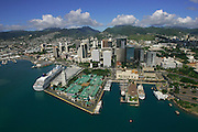 Aloha Tower, Downtown Honolulu, Oahu, Hawaii