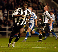 Photo: Jed Wee.<br /> Newcastle United v Reading. The Barclays Premiership. 06/12/2006.<br /> <br /> Newcastle's Obafemi Martins celebrates after scoring the equaliser from the penalty spot.