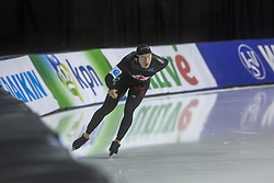 March 9, 2019 - Salt Lake City, Utah, USA - Ted-Jan Bleomen from Canada competes in the 5000m speed skating finals at the ISU World Cup at the Olympic Oval in Salt Lake City, Utah. Bloemen finished with a time of 6:09.64. (Credit Image: © Natalie Behring/ZUMA Wire)