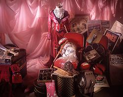 Antique theatrical prop room. CONCEPT STOCK PHOTOS