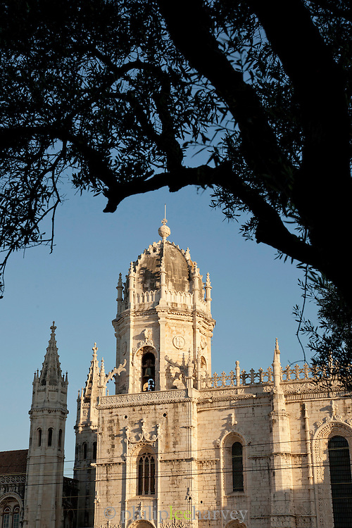 A dome of the great Jeronimos Monastery, a UNESCO World Heritage Site in Lisbon, Portugal