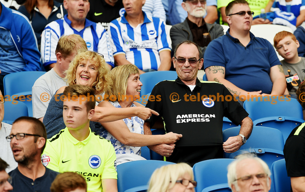 Fans during the Sky Bet Championship match between Brighton and Hove Albion and Barnsley at the American Express Community Stadium in Brighton and Hove. September 24, 2016.<br /> Simon  Dack / Telephoto Images<br /> +44 7967 642437